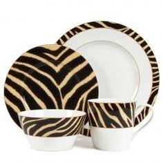 Ralph Lauren Safari Zebra Dinnerware...Must have for new house!