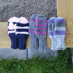 Fokus på strikk: Oppskrift: Votter til småbarn Knitting For Kids, Boy Or Girl, Gloves, Crafts, Tejidos, Mittens, Bebe, October, Threading