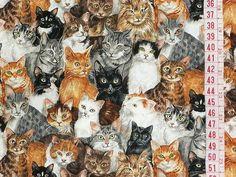 ✄ Tecido Importado CATS CINZA