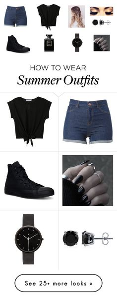 """""""Casual summer outfit"""" by bb123456789 on Polyvore featuring Converse, Chanel, I Love Ugly, BERRICLE, women's clothing, women, female, woman, misses and juniors"""