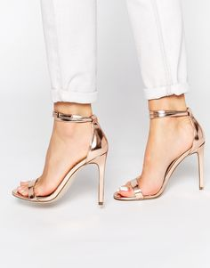 ASOS HOAXER Heeled Sandals (wear these with your neutrals!)