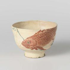 Kyoyaki tea bowl, 1800 - 1900