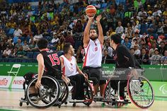 Cem Gezinic of Turkey competes in the Men's Wheelchair Basketball group A preliminary between Turkey and Japan during the Rio 2016 Paralympic Games at Carioca Arena 1 on September 8, 2016 in Rio de Janeiro, Brazil.
