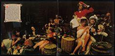 The gatefold image of Son of a Son of a Sailor. Ahhhh the life of debauchery!