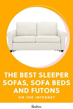 Sleeper sofas, sofa beds and futons are three different variations of couch/bed hybrids, so make sure you know which type you're looking for before you start shopping. Here, find the best of the best in each category. #sleeper #sofa #bed Best Sleeper Sofa, Sofa Bed, Atlanta Apartments, Sofas, Good Things, Furniture, Home Decor, Sleeper Couch, Couches
