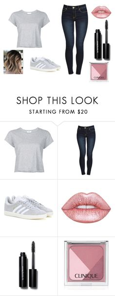 """Casual"" by mc-crusher on Polyvore featuring RE/DONE, adidas, Lime Crime, Bobbi Brown Cosmetics and Clinique"