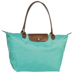 This is what I got in Paris/2 Le Pliage Tote bag by Longchamp in lagoon color