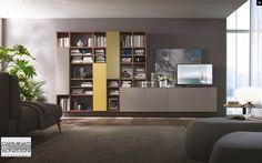 Parete attrezzata per #soggiorno moderno Atlante C301 ...