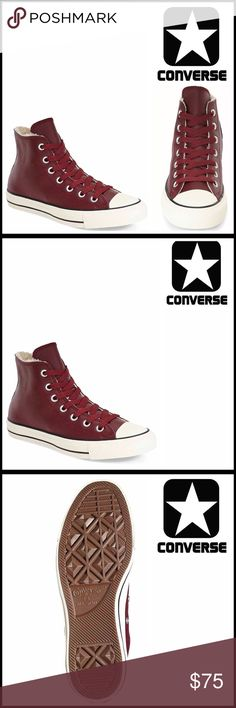 ⭐⭐ CONVERSE LEATHER SNEAKERS Faux Fur Lined CONVERSE LEATHER SNEAKERS Faux Fur Lined Stylish High Tops  SIZING- UNISEX, men's sizes shown, Women's 10 = Men's 8  COLOR-Deep Bordeaux, black, White * Round toe * Lace-up closure * Smooth leather Finish & Faux-fur trim around the collar & tongue  * Grommet vent & logo accents * Lightly cushioned insole & grip sole MATERIAL Leather upper, Faux fur polyester lining, manmade sole  ❌NO TRADES❌ ✅BUNDLE DISCOUNTS✅ OFFERS CONSIDERED ITEM# SEARCH WORDS…