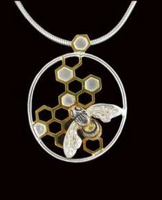 honeycomb pendant by paula bolton