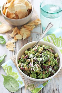 Pesto Bean Salad with Almonds and Cranberries - Cookie Monster Cooking