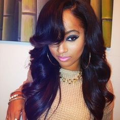 Love the style and the hair of this sew in..... Might try this