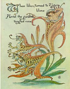 From Flora's Feast, a gorgeous collection of watercolors by Walter Crane, published about 1899, now digitized and online @Google books.