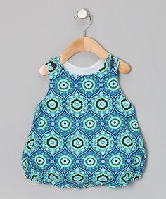 Ocean Arabesque Bubble Romper - Infant