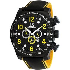 Wear a luxury Joshua & Sons watch and show off your sense of style. This men's chronograph sports watch infuses color into an ordinary day and has useful features for an active lifestyle, including the date and a 60-minute timer.
