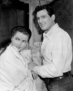 Ursula Thiess and Rock Hudson in Bengal Brigad