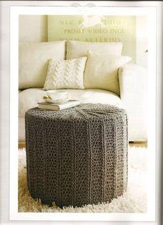 Puff de Crochê ~ Arte De Fazer | Ideias de Decoração e Artesanato