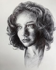 A #portrait of @danae_k_muratore from @sktchyapp in #ballpointpen (black Bic Round Stick) #justapen #drawing #sketch