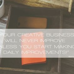 What part of your creative business are your working on today, this week, this month, or this year?
