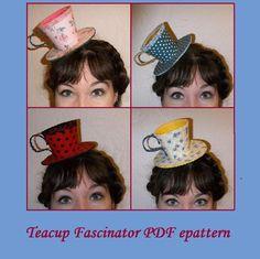 Tea Hats, Tea Party Hats, Cloche Hats, Tea Parties, Mad Hatter Party, Mad Hatter Tea, Mad Hatters, Fascinator Diy, Fascinators