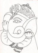 Life's street - bitter and sweet: Glass Painting - Ganesha