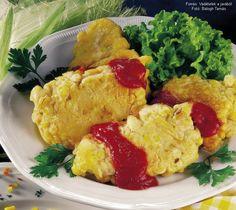 Kukoricabundás fácánmell Ketchup, Ethnic Recipes, Food, Essen, Meals, Yemek, Eten