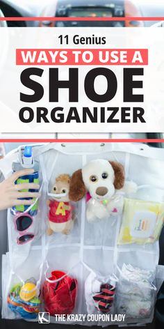 Looking for home organizing tips that are inexpensive and easy? The common hanging shoe organizer is full of surprises. Once you discover how it can help organize your home, you'll stock up on these cheap storage solutions. The Krazy Coupon Lady shows you simple and fast organization hacks using dollar store shoe organizers that will transform your pantry, closet, kids' playroom, garage, car trips, and even your craft room! Home Organization Hacks, Organizing Tips, Organizing Your Home, Hanging Shoe Organizer, Hanging Shoes, Shoe Holders, Pantry Closet, Coupon Lady, Cheap Storage