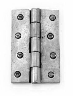Louis Fraser Butt Hinges - Pewter Finish - These Louis Fraser Butt Hinges tick all the boxes, they are fully functional hinges but due to the fantastic pewter finish they are very different from standard butt hinges which are available. Cast Iron, It Cast, Gate Hinges, Door Furniture, Knobs And Handles, Shelf Brackets, Door Knobs, Pewter, Boxes