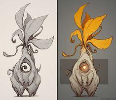 Creature Sketches (Part 2), Billy Wimblett on ArtStation at https://www.artstation.com/artwork/Qo85x