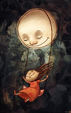 Gwynne Simmons - Art & Illustration by paperyoyo Art And Illustration, Good Night Quotes, Good Morning Good Night, Bisous Gif, Photo D Art, Moon Art, Stars And Moon, Sweet Dreams, Moonlight