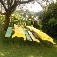 Gartenparty Outdoor Furniture, Outdoor Decor, Sun Lounger, Patio, Home Decor, Pictures, Garden Parties, Chaise Longue, Homemade Home Decor