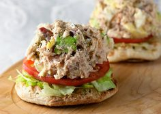 Another idea for all those summer tomatoes: Tuna Cobb Salad Sandwiches!