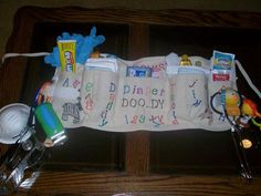diaper changing toolkit ~ great couples baby shower gift! Too funny, goggles and a mask!