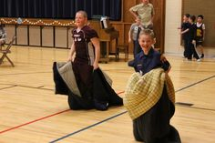 Cub Scout Blue and Gold Banquet by verymom, via Flickr sleeping bag relay! camping gear dressing