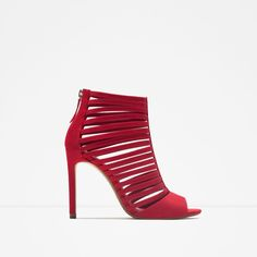 Red and Strappy Heels Red Shoes, Shoes Heels, Strappy Heels, Pumps, Shoes adc5d49c278f