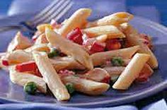 "Ranch Chicken Pasta Salad - known at my house as ""softball/baseball salad"" b/c it's frequently served on busy spring nights! I sub real chicken, regular mayo and ranch dressing"