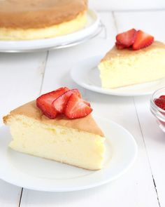 """Get this tested, easy to follow recipe for gluten free Japanese cheesecake—they call it """"cotton cheesecake"""" because it's light as cotton!"""