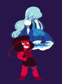 Steven universe saphire and ruby
