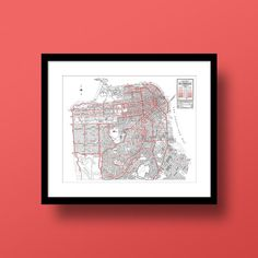 San Francisco California Map Fine Art Print by DesignOutfitters