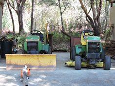 Dads two John Deere's. John Deere Garden Tractors, Dads, Fathers