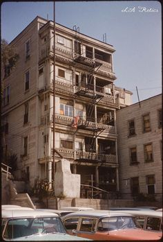 Apartment building at 224 S. Olive Street in Bunker Hill in 1963. Source: California State Library