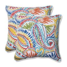 Shop Pillow Perfect  Outdoor Santa Maria Corded Square Throw Pillow (Set of 2) at ATG Stores. Browse our outdoor pillows, all with free shipping and best price guaranteed.