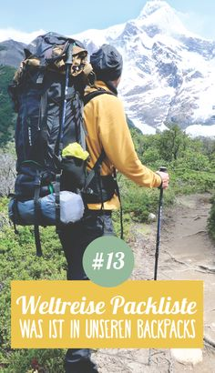 Planning a trip around the world No. 13 ➸ The packing list: what's in the backpack? What should not be missing in the backpack? Here is the perfect packing list for us for a Packing List For Travel, Travel Info, Work Travel, Time Travel, Packing Lists, Travel Hacks, Backpacking For Beginners, Backpacking Tips, Koh Lanta Thailand