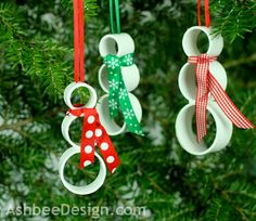 PVC Pipe Snowman Ornaments