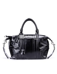 Black Cylindrical Shape Buckle Distressed Cowhide Womans Tote Bag. See More Tote Bags at http://www.ourgreatshop.com/Tote-Bags-C775.aspx