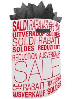 500 x Plastiktragetaschen mit ausgestanztem Griff 38 x 44 + 2 x 5 cm., Sale Dessin, weiß/rot Shops, Drink Sleeves, Tote Handbags, Red, Tents, Retail, Retail Stores