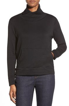 Eileen Fisher Funnel Neck Boxy Fleece Top (Regular & Petite) available at #Nordstrom