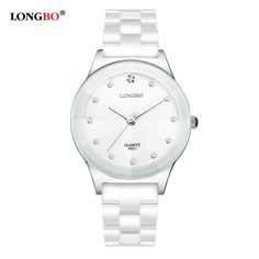Cheap watches free shipping, Buy Quality watch quality directly from China watch watch Suppliers: Luxury White Ceramic Water Resistant Classic Easy Read Sports Women Wrist Watch Women's watchesTop Quality Lady Rhinestone watch