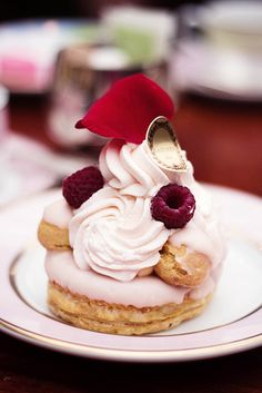 Laduree raspberry and rose dessert