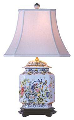 Motif Hexagonal, Asian Lamps, Ceramic Table Lamps, Porcelain Lamps, Painted Porcelain, China Porcelain, Hand Painted, Blue And White Vase, Table Lamps For Bedroom